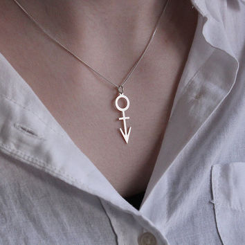 prince symbol Necklace love symbole silver Pendant charm necklace with 925 Sterling Silver Chain women gift