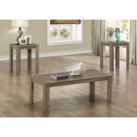 Dark Taupe Reclaimed-look 3-piece Table Set | Overstock.com Shopping - The Best Deals on Coffee, Sofa & End Tables