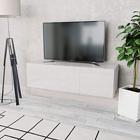 TV Cabinet Chipboard TV Stand Sideboard High Gloss White/Oak and White