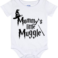 Cute Harry Potter Mommy's Muggle Onesuit - all sizes from (New born - 24 months)