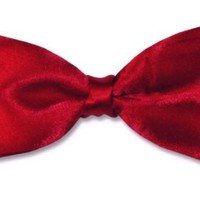 BOWTIE-Solid-Mens-red Tuxedo-BowTies