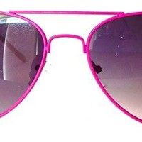 Smoke Lens / Pink Frame Aviators Sunglass, Rose Gold Skull Bones Charms, Proudly Made in the USA, 5.5 Inches X 2 Inches