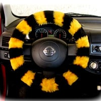 by (CoverWheel) Steering wheel cover for wheel car accessories Bee Yellow - Black