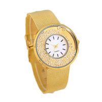 Girls Gold Alloy Strap Watches Fashion Women Casual Sports Watch Best Christmas Gift