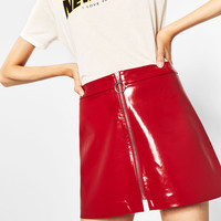 MINI PATENT FINISH SKIRT