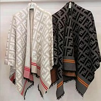 FENDI Women Fashion Tassels Cardigan Jacket Coat