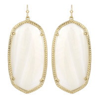 Kendra Scott Danielle Drop Earrings White Mother of Pearl