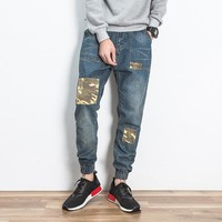 Korean Strong Character Camouflage Stylish Casual Men Jeans [10833223043]