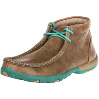 Shop Women's Twisted X Driving Mocs Brown & Turquoise Shoes