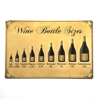 Wine Bottle Sign Vintage Metal Painting Retro Metal Tin Sign 20cm*30cm Art Posters Wall Stickers Home Cafe Bar Pub Wall Decor