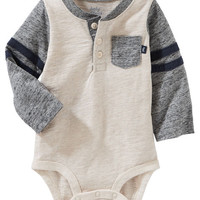 Varsity Pocket Henley Bodysuit