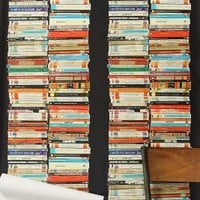 Stacked Paperback Wallpaper by Anthropologie in Multi Size: One Size Decor