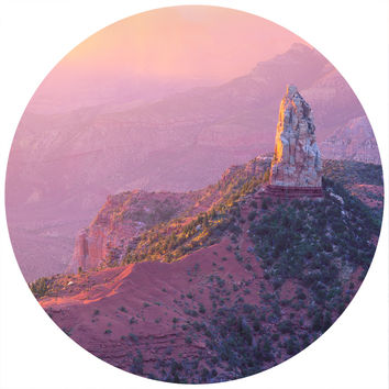 Paul Moore's Sunset Over Mt. Hayden Circle wall decal