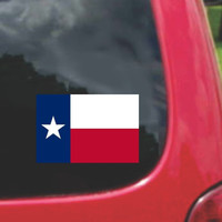 Texas State Flag Vinyl Sticker Decal Full Color/Weather Proof.