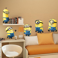 2015 DESPICABLE ME 2 wall stickers Vinyl Art decals room kid decor MINIONS Removable