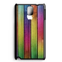 Colorful Wood Background Samsung Galaxy Note 3 Case