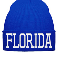 FLORIDA EMBROIDERY HAT - Beanie Cuffed Knit Cap
