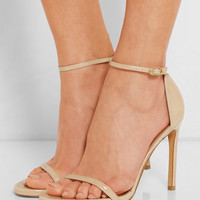 Stuart Weitzman - Nudist Song patent-leather sandals