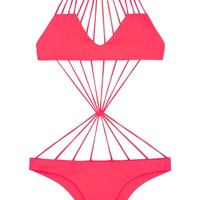 Seychelles Stringy Center Knot One Piece Swimsuit - Tropical Pink