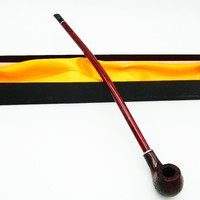 1Pc Wooden Resin Enchase Smoking Pipe Tobacco Longest Cigar Exhaust Pipes Fittin