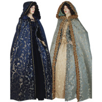 Womens Hooded Renaissance Cloak - MCI-354 by Your Dressmaker, Custom Medieval Clothing