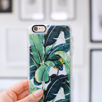 Simple iPhone 6s & 6s Plus Case (Green Leaves Pattern) by Casetify