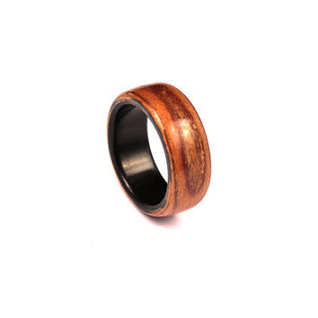 Sapele wooden wedding ring set - wooden bands - mens gift - wooden ring - custom ring - anniversary ring - mens band - womens wedding band