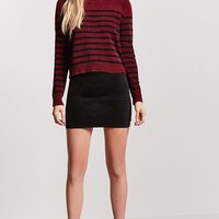 Stripe Chenille Knit Sweater