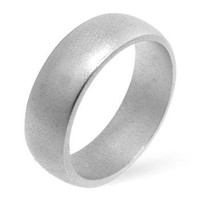 Matte Silver Wedding Band, size : 06
