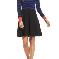 Vince Camuto Stripe Sweater Fit & Flare Dress | Nordstrom