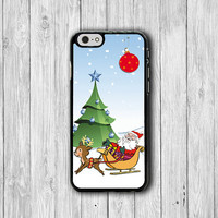 Happy Christmas Santa is Coming Electronics Cases iPhone 6 Cases, Funny Cartoon iPhone 5S, iPhone 6 Plus Hard Case, Rubber Deco Accessorie