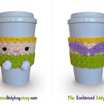 Crochet Tinkerbell Coffee Cup Cozy