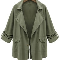 'The Sancia'  Army Green Long Sleeve Jacket