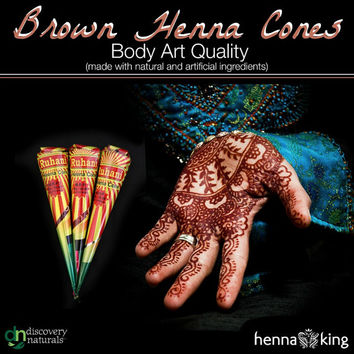 Dark Brown Henna Cone