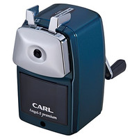 Carl Pencil Sharpener. CC-2000. 5-Points Selector. Manual, Quiet for Office and Home Desks, School Classroom