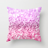 Glamorous Glitter  Throw Pillow by Perrin Le Feuvre