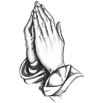 Praying Hands Waterproof Temporary Tattoos Lasts 3 to 4 days Choose Small, Medium or Large Sizes