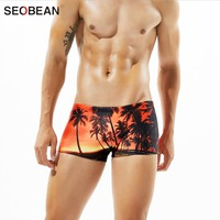 2017 Sexy Summer brand men swim swimsuit 5 color men's swimming shorts for bathing beach play men swimming trunks water sports