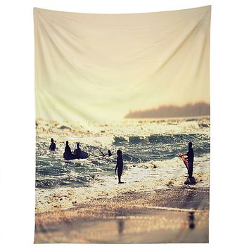 Shannon Clark Sunset Surfers Tapestry