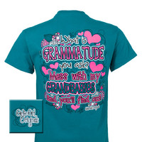 Girlie Girl Originals Grammitude Grandma Dont Mess With My Grand Babies Bright T Shirt