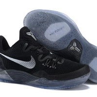 Nike Zoom Kobe Bryant Venom 5 Black / Silver Basketball Shoes