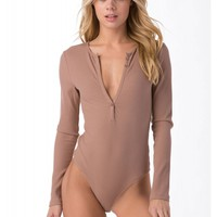 Naughty Or Nice Ribbed Bodysuit