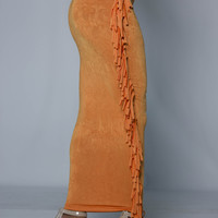 CONFIDENT Orange iAMMI Fringe Skirt/Dress