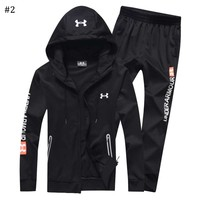 Under Armour 2018 autumn and winter new men's warm cardigan hooded two-piece #2