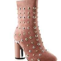 London Calling Studded Suede Bootie