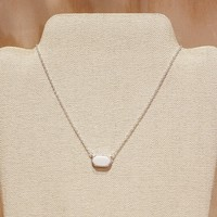 Small White Jewel Necklace