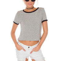 Essie Crop Top - Grey