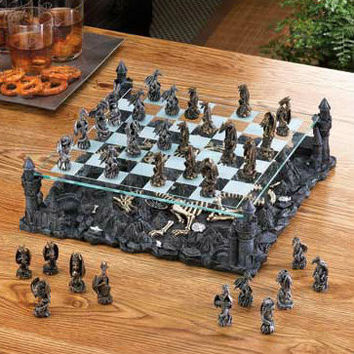 Elevated Dragon Chess Set