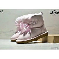 UGG winter 2018 new bow ribbon female models anti-skiing boots #3