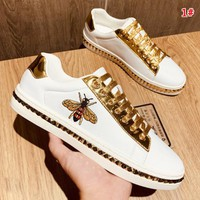 GUCCI New fashion more embroidery men leisure shoes 1#